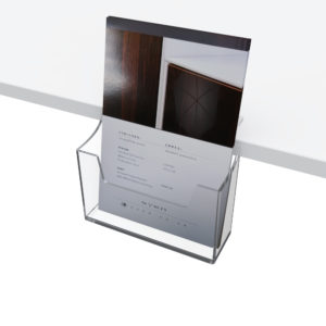 A5 Leaflet Holder for shelf edge