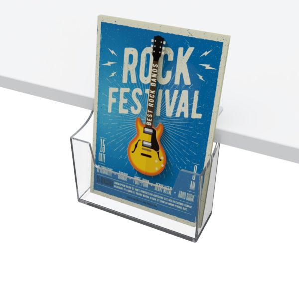 A4 leaflet holder shelf edge