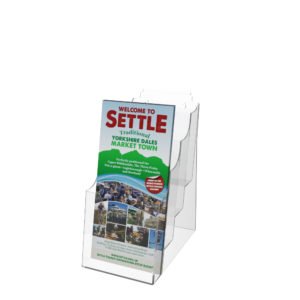 DL Leaflet Holder Multi Tier Freestanding Wall Mounted Slatwall