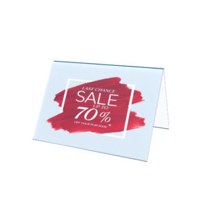 A5 single sided tent card ticket holder