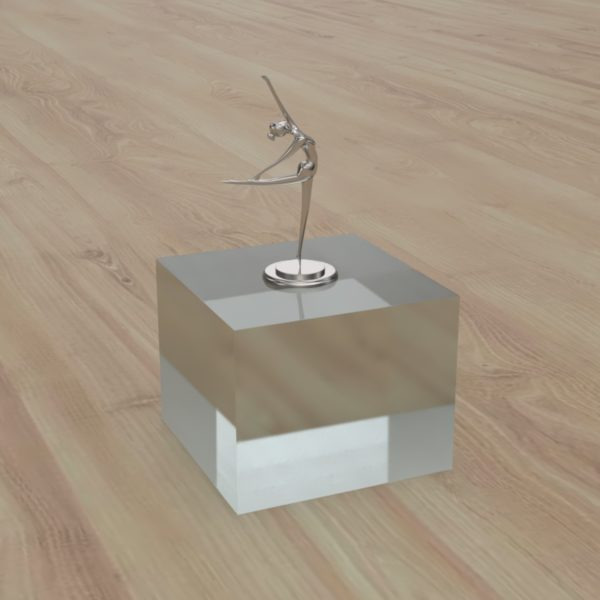 Solid Clear Acrylic Display Block
