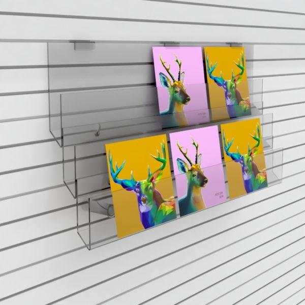 3 tier slatwall card rack