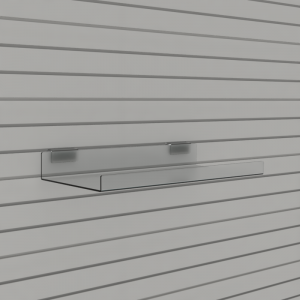 Slatwall Shelves with Double Lip