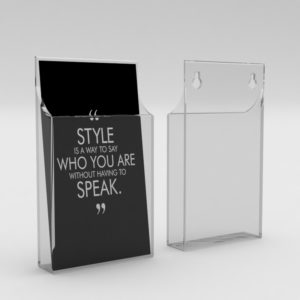 wall mounted leaflet holder brochure holder