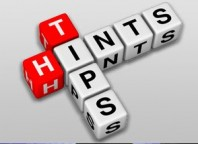 Hints and Tips spelled out in block