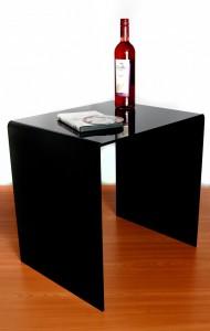 Acrylic black coffee table Wrights GPX