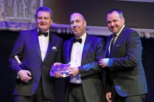 Wrights GPX collecting their award at Birmingham Post Business Awards 2014