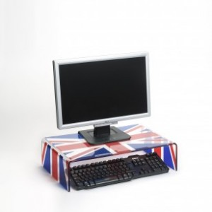 Monitor and TV Union Jack stand