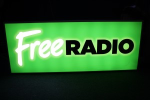 Free Radio light box