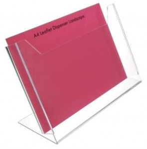 Freestanding leaflet holder