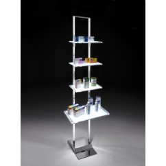LEDMAG display stand with illuminated shelves
