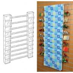 Slatwall shelves gift wrap dispenser