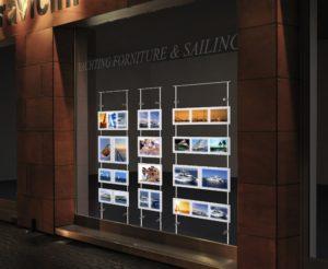 LED window display range