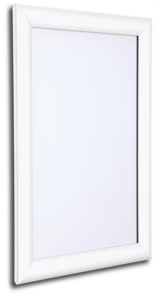 white snap frames