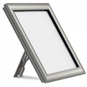 freestanding silver snap frame for desk shelf or table