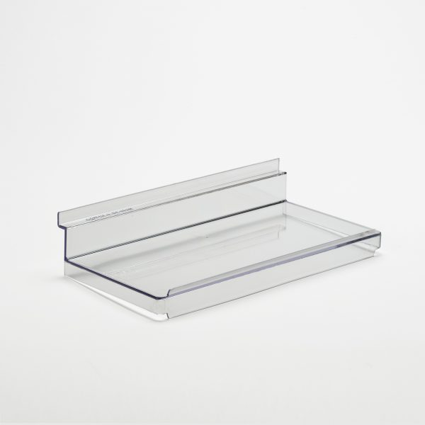 flat slatwall shelves with lip upstand