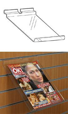 sloping Slatwall shelves