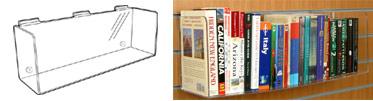 Angled Slatwall Shelves