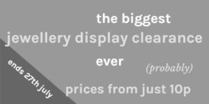 jewellery display clearance banner