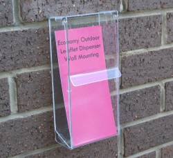 economy outdoor leaflet holders