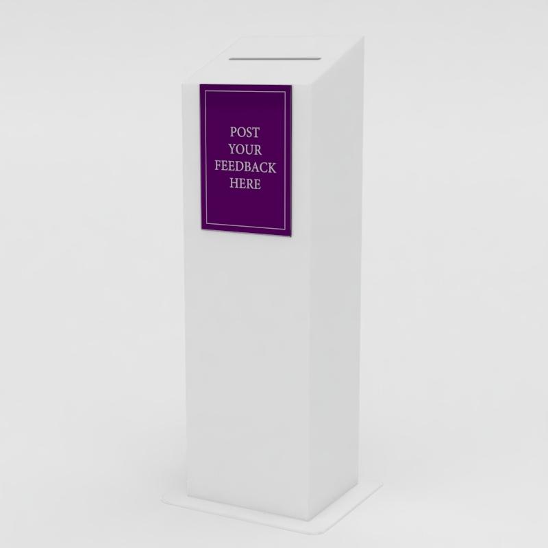 An image of Floor Standing Ballot Box: 300mm (W) x 250mm (D) x 1000mm (H)