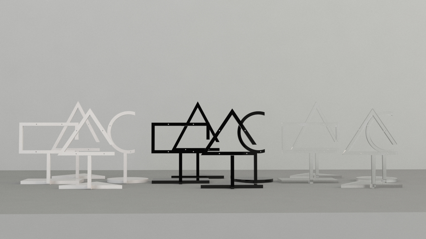 An image of Triangle Earring Stand – Frost
