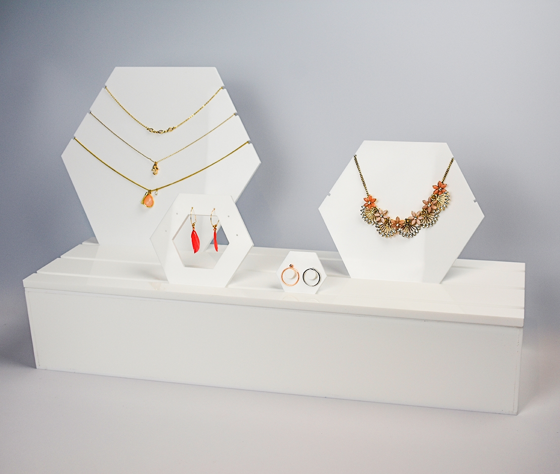 An image of Jewellery Display Plinth. Large. White