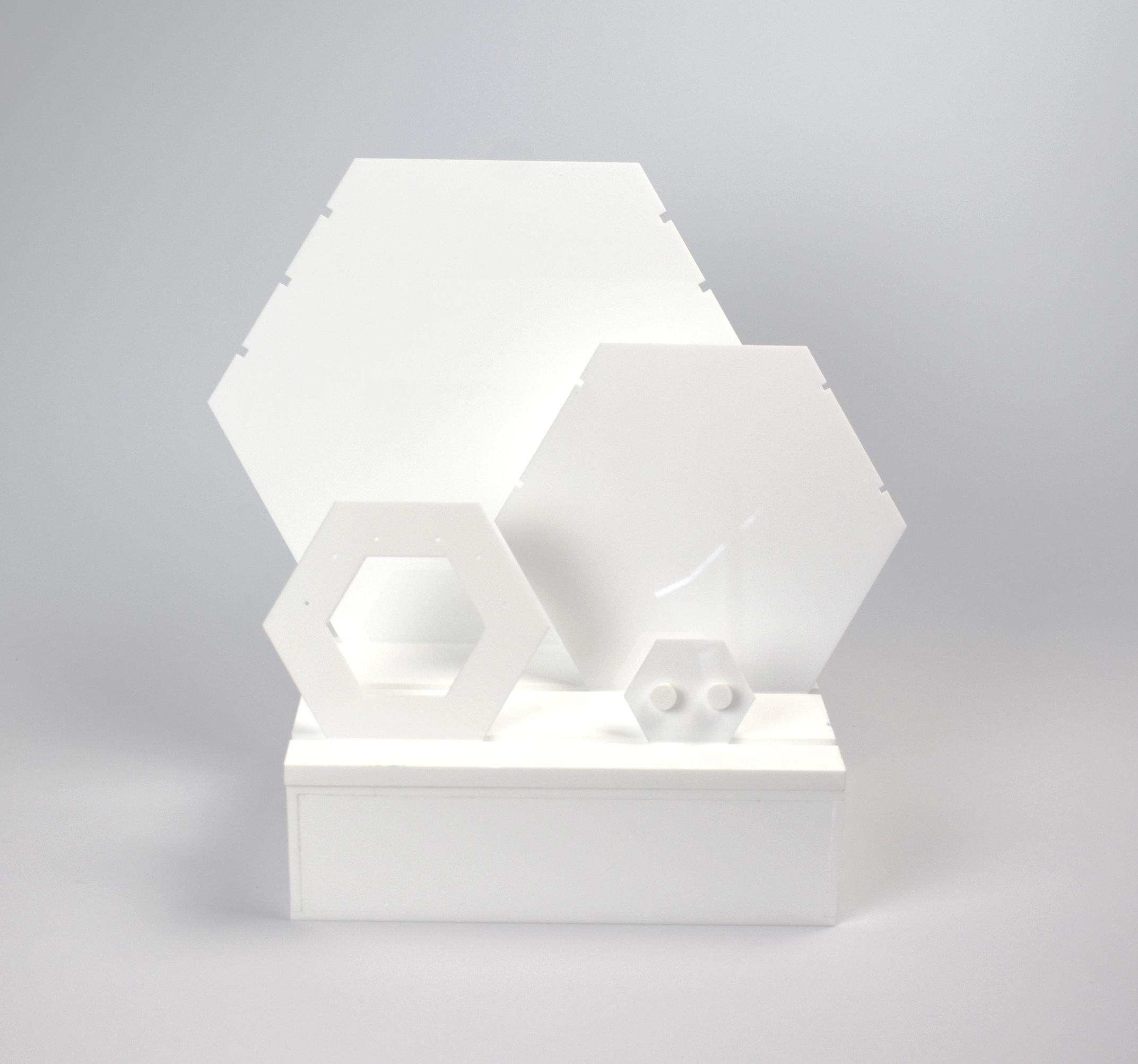 An image of Jewellery Display Plinth, Small. White
