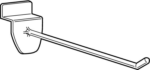 An image of Prong Hook – Slatwall 100mm: Grey