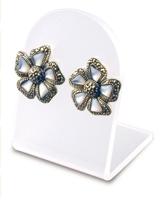 An image of Display for 1 Pair of Earrings. Clear