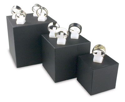 An image of 5 Sided Square Cubes – Black 90mm