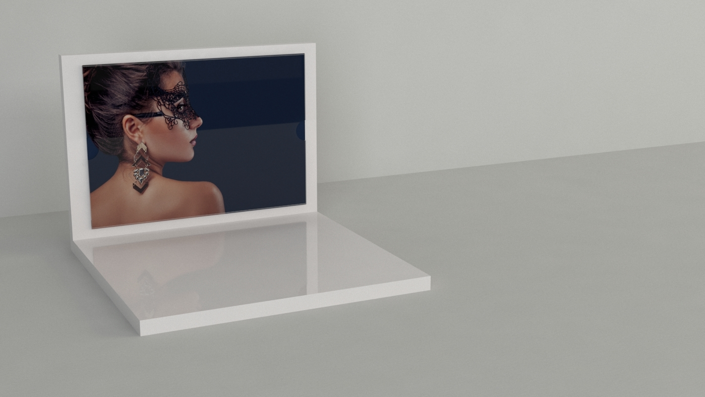 An image of L Shaped Jewellery Display – White