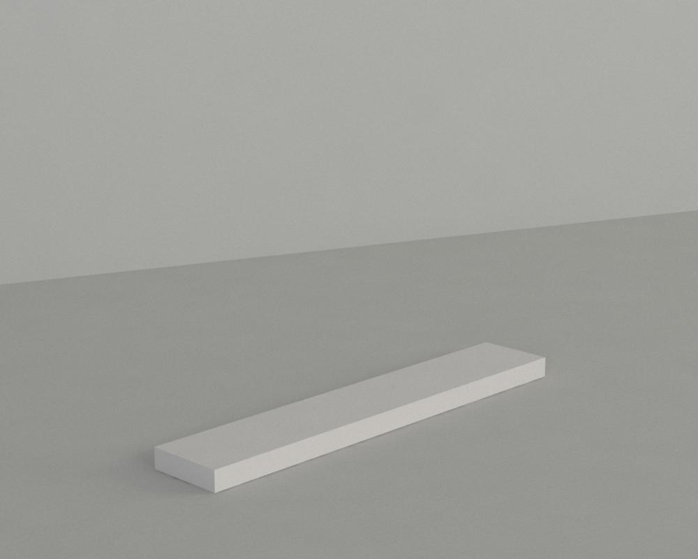 An image of Narrow Display Block – White