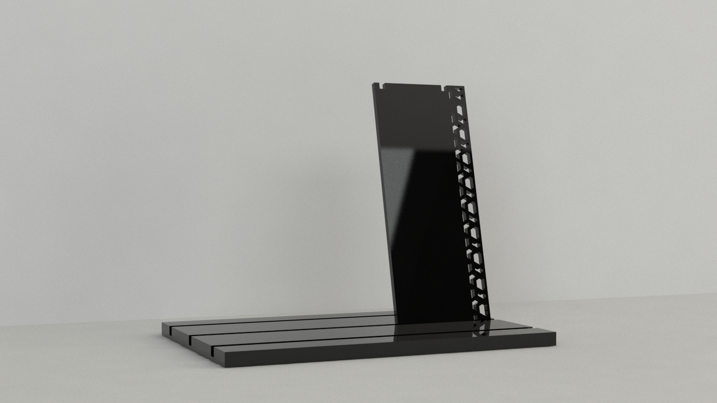 An image of Tall Necklace Display – Black