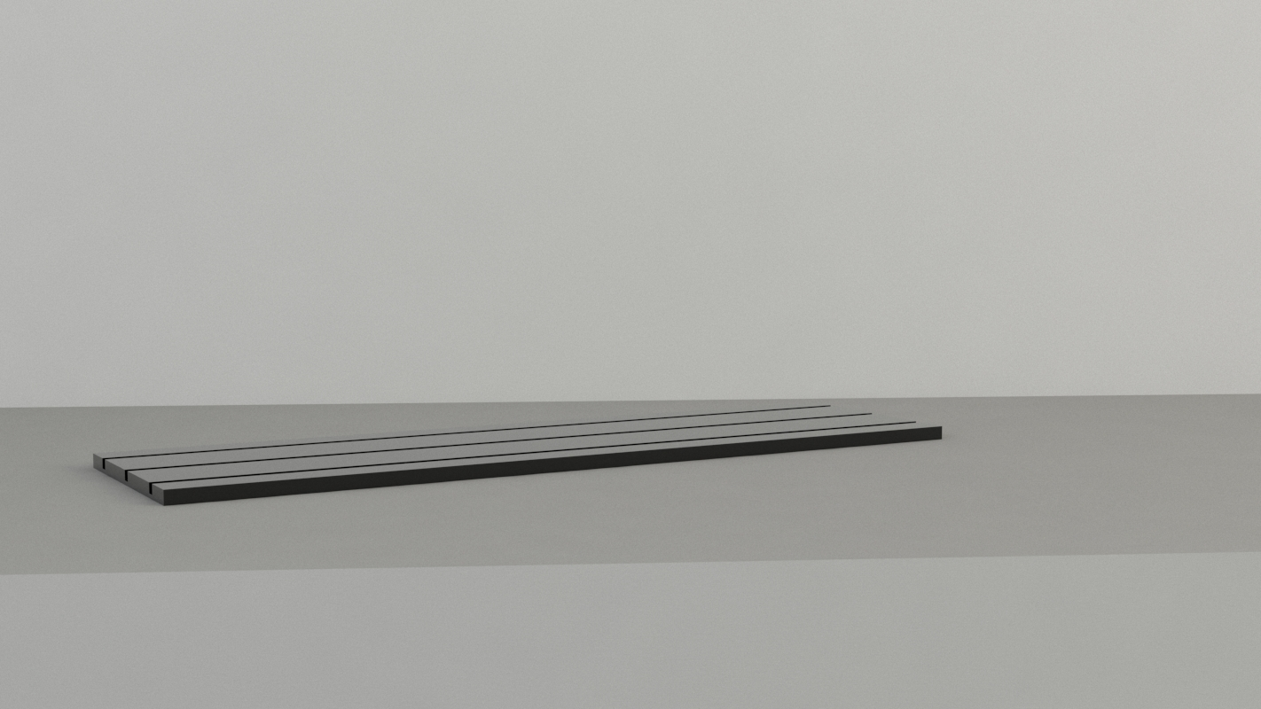 An image of Jewellery Display Base. Long. Black