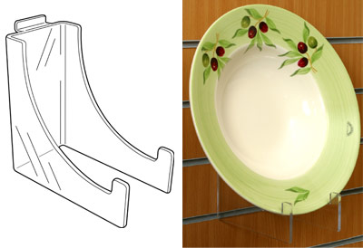 An image of Heavy Duty Plate / Bowl Stand – Slat Fix: 100mm (W) x 200mm (H) x 200mm (D)