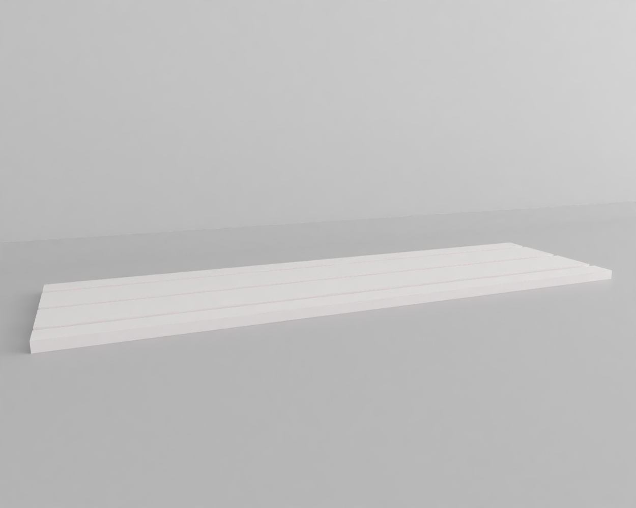 An image of Jewellery Display Base. Long. White