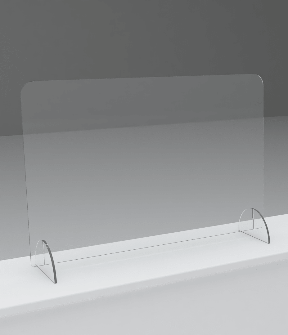 An image of Large Freestanding Sneeze Screen – Large – 1000(w) x 700mm(h)
