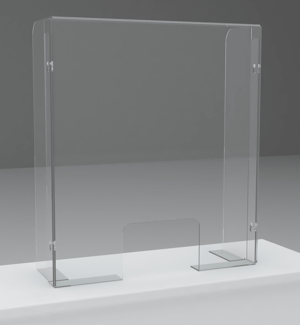 An image of Counter/Till Area Sneeze Screen – Single – 800(w) x 900mm(h)
