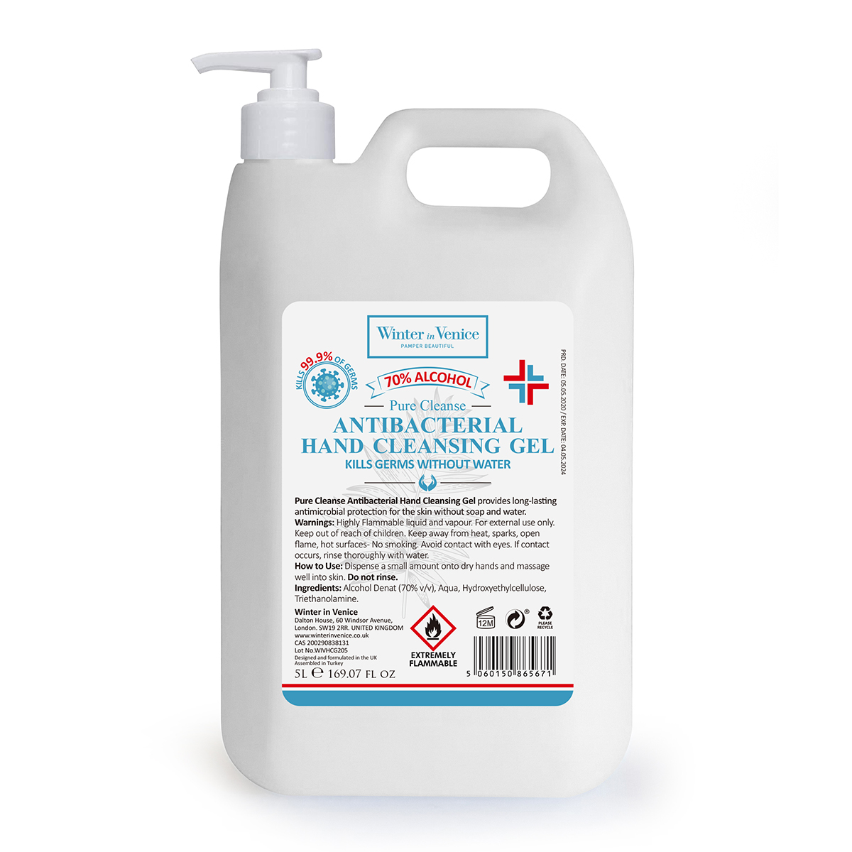 An image of Hand Sanitiser 5L (70% Alcohol)