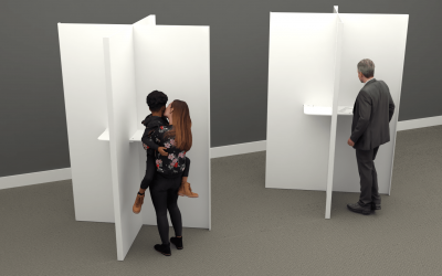 Wrights Plastics launches 'sneeze screen' style polling booth