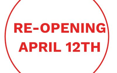 Government Confirms April 12th Re-Opening